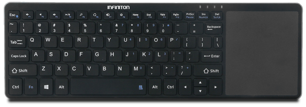 TECLADO INALAMBRICO INFINITON KB-17 SMART TV NEGRO