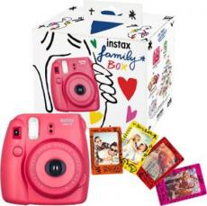 KIT FUJIFILM INSTAX MINI 8 FAMILY BOX ROJA+IMANES+