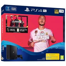 CONSOLA SONY PS4 PRO 1TB + FIFA20 + CUPO FUTVCH + 14 DAYS PS