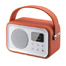 RADIO PORTATIL SUNSTECH RPBT450OR RETRO NARANJA